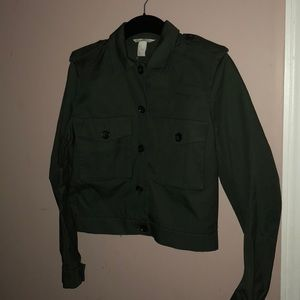 Crop military style jacket